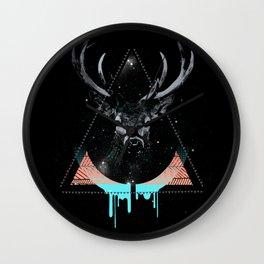 The Blue Deer Wall Clock