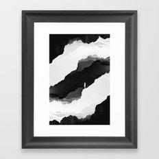 Black Isolation Framed Art Print