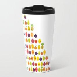 numbers for preschool kindergarten kids kawaii fruit from one to ten Travel Mug