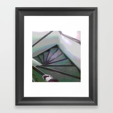 Footsteps on the stairs Framed Art Print