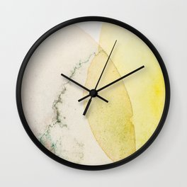 Watertercolour abstract art bubbles Wall Clock