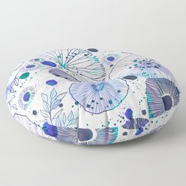 Inky Floral Floor Pillow