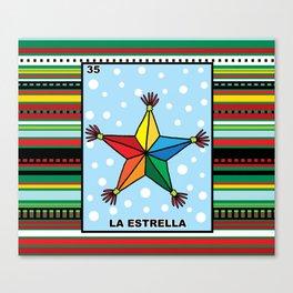 Christmas Loteria La Estrella Canvas Print