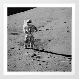 Apollo 17 - Commander Gene Cernan Art Print