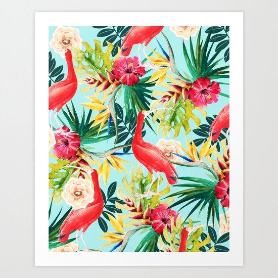 Hawaiian Vibe #society6 #decor #buyart Art Print
