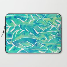 Split Leaf Philodendron – Turquoise Laptop Sleeve