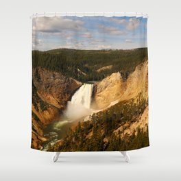 Majestic Yellowstone Upper Falls Shower Curtain