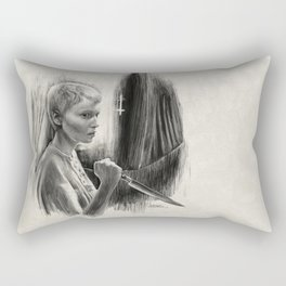 Homage to Rosemary's Baby Rectangular Pillow