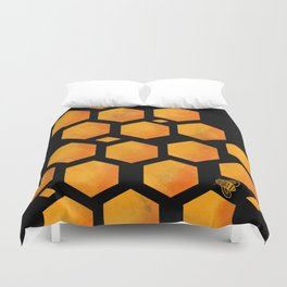 Bee in a Honeycomb Duvet Cover