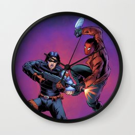 Winter Soldier vs. Red Hood Wall Clock