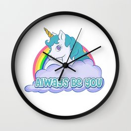 Always Be You Shirt Wall Clock
