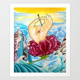 The Healing Hand Art Print
