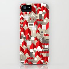 red roofs iPhone (5, 5s) Slim Case