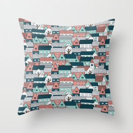 A lot of Houses Throw Pillow