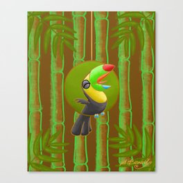 Squawking Toucan! Canvas Print