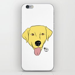 Yellow Lab Face iPhone Skin
