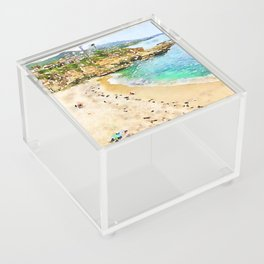 Laguna Beach Coast Acrylic Box