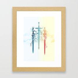 Sword Art Duo Framed Art Print