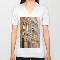 twilight V-neck T-shirts featuring twilight by Oksana Ivanenko