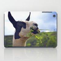 llama iPad Cases featuring Llama by Jimmy Duarte
