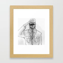 "Metal gear Solid ""Big Boss"" Framed Art Print"