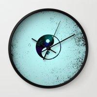 yin yang Wall Clocks featuring Yin & Yang by Mr and Mrs Quirynen