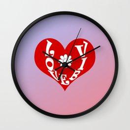 Love Vibes Wall Clock