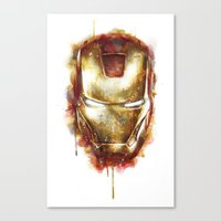 iron man Canvas Prints featuring Iron Man by beart24