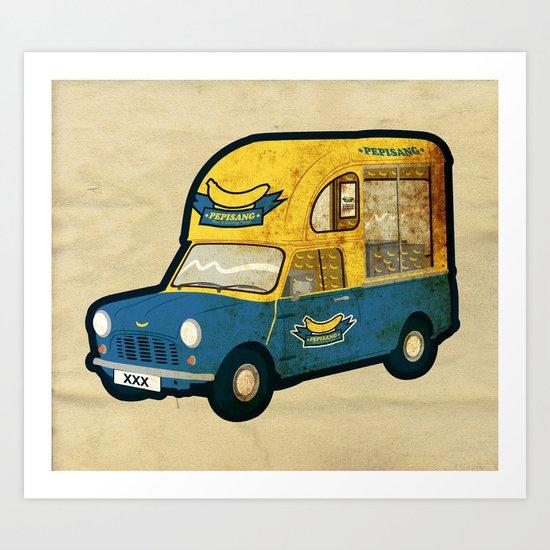 PEPISANG Banana Mobil Art Print