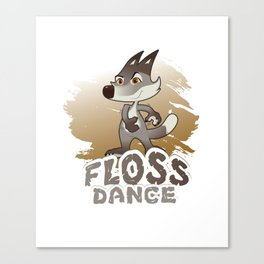 Trends Exercise Movement Flossing Gift Floss Dance  Move Wolf Canvas Print