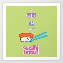 Sushi Time! - Sake Art Print