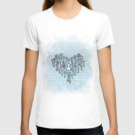 Key Heart White T-shirt