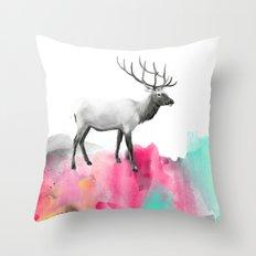 Wild No. 2 // Elk Throw Pillow
