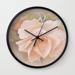 Vicorian Roses Neck Gator Peach Rose Wall Clock