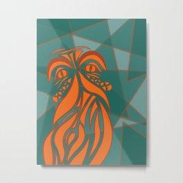 Beardly Metal Print