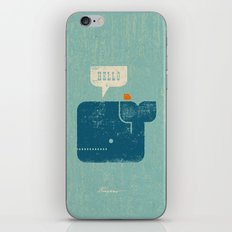 Whale Says Hello to Bird iPhone & iPod Skin