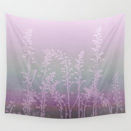 WILDFLOWERS - PINK GARDEN Wall Tapestry