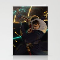 league of legends Stationery Cards featuring Jayce League of Legends by ARAM Adventures