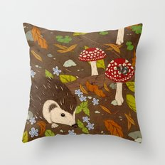 Woodland critters (coloured) Throw Pillow