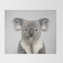 Koala 2 - Colorful Throw Blanket
