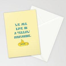Yellow submarine Stationery Cards