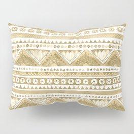 Watercolor Beige Tribal  Pillow Sham