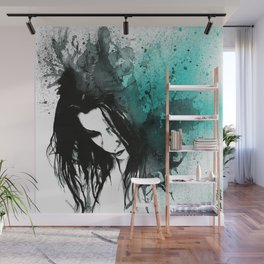 This Confession Means Nothing: Turquoise Wall Mural