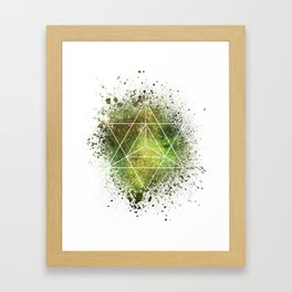 Star Tetrahedron the Merkaba Vehicle of Light Framed Art Print