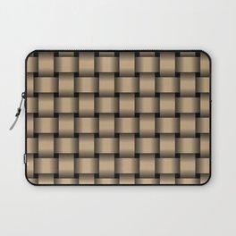 Tan Brown Weave Laptop Sleeve