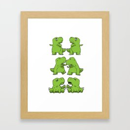 T-Rex Fusion Short Arms Dino funny gift Framed Art Print