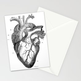Anatomic hearth engraving Stationery Cards