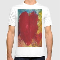 Blood Red Love Mens Fitted Tee White MEDIUM