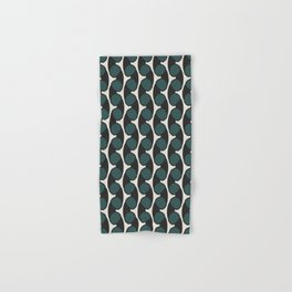 geo six retro-teal Hand & Bath Towel