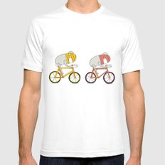 Ride more bikes MEDIUM White Mens Fitted Tee